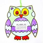 Sand Art Owl 2017 Calendar - 1 Kit