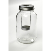 Glass Lantern With Star Cut Out Lid - Pack Of 6
