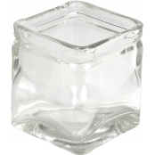 Glass Square Candle Holder - Single