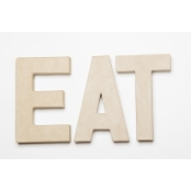 EAT - Paper Mache Letters for Decorating & Decopatch