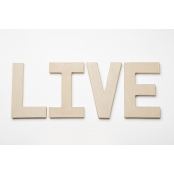 LIVE - Paper Mache Letters for Decorating or Decopatch