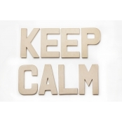 KEEP CALM - Paper Mache Letters for Decorating and Decopatch