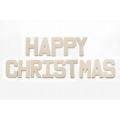 HAPPY CHRISTMAS - Paper Mache Letters for Decorating and Decopatch
