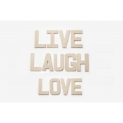 Live Laugh Love - Paper Mache Letters for Decorating and Decopatch