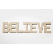 BELIEVE - Paper Mache Letters for Decorating and Decopatch