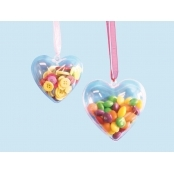 Clear Acrylic Hearts - 5 Pack 60mm