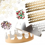 Silver And Gold Crown Kit - Makes 12
