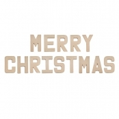 MERRY CHRISTMAS - Paper Mache Letters for Decorating and Decopatch