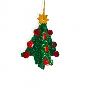 3D Wooden Christmas Tree Decoration