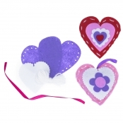 Felt Heart Sewing Kit - 3 Pack