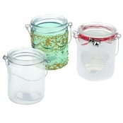 Glass Cylinder Shaped Lanterns- Pack of 12