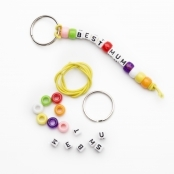 Best Mum Pony Bead Key Ring