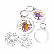Alien and Monsters Keyrings - 4 designs to colour in