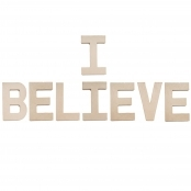 I BELIEVE - Paper Mache Letters to Decorate