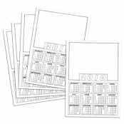 A4 Calendar Blanks 2018- Pack of 10
