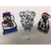 Christmas Suncatchers (Penguin, Snowman & Angel)