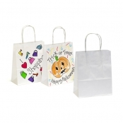 White Paper Gift Bag 15 X 20 X 8cm (Stiff Handle)