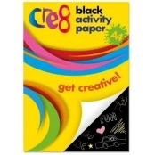60 Sheets A4 Black Activity Paper