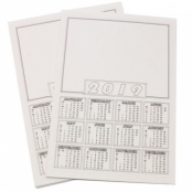 A4 Calendar Blanks 2019 - pack Of 50