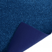 Royal Blue Glitter Felt Sheet