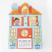 Home Sweet Home Colour In Calendar Kit - Makes 10