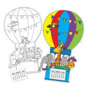 Hot Air Balloon Calendar - SINGLE