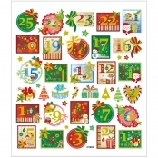 Advent Numbers Sticker Sheet