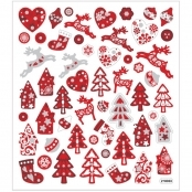 Glitter Christmas Sticker Sheet
