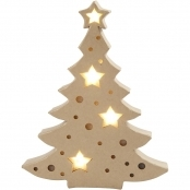 Light Up Christmas Tree Decoration 27cm
