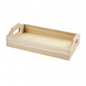 30 X 17 X 5cm  Wooden Tray With Handles