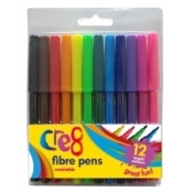 Washable Felt Tip Pen Set - 12 Pack
