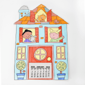 Home Sweet Home Colour In Calendar - 1 Kit