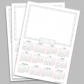 A4 Calendar Blanks 2020 - pack Of 50
