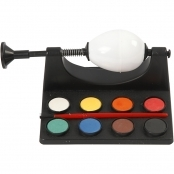 Egg Painting Kit Including Paints And Brush
