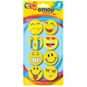 Fun Emoji Erasers(pack Of 8)