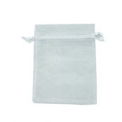 Organza Bags - 100 Pack - White
