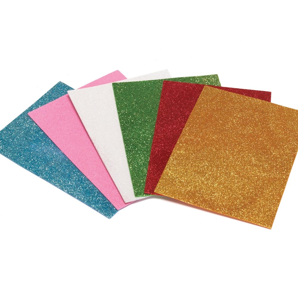 Glitter foam sheets self adhesive glitter foam craft for Best glue for craft foam