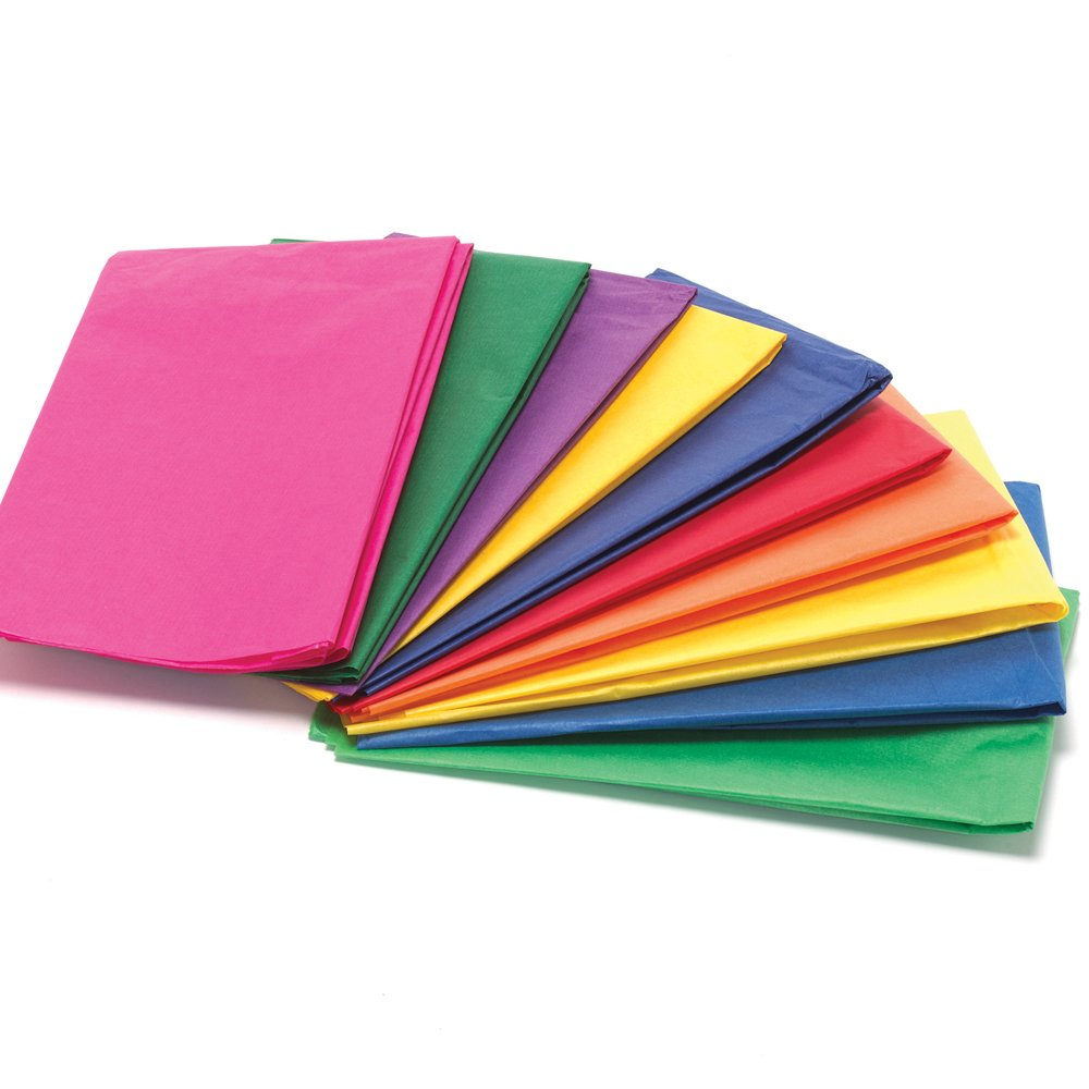 Bright colours tissue paper pack 20 sheets collage and for Where to buy contact paper for crafts