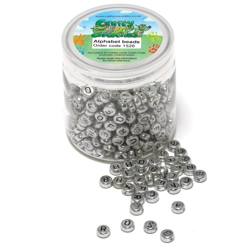 400 silver alphabet beads beadcraft from crafty With silver letter beads