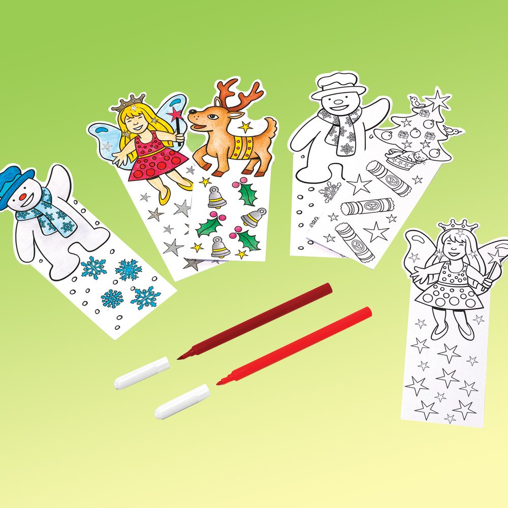 Color Your Own Religious Christmas Ornaments: Colour-in Christmas Bookmarks