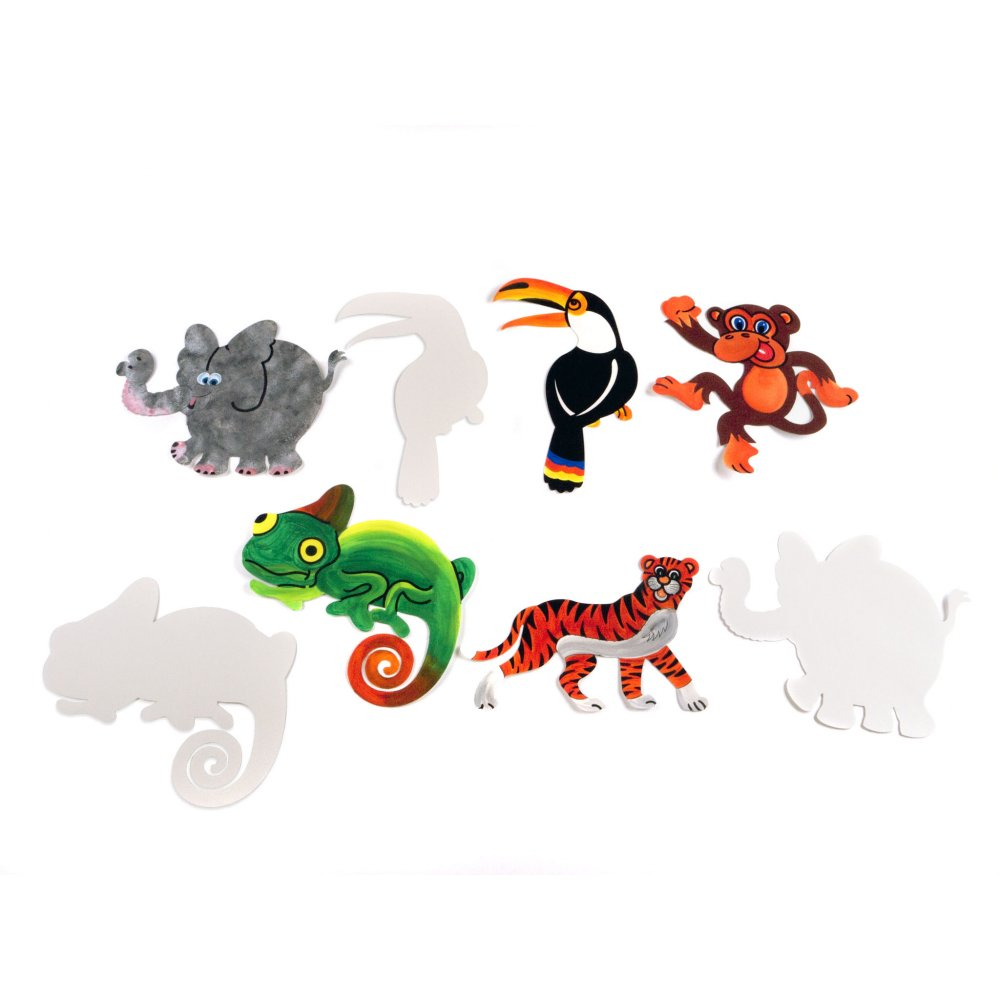 Jungle Animal Cut-outs - Cut-Outs from Crafty Crocodiles UK