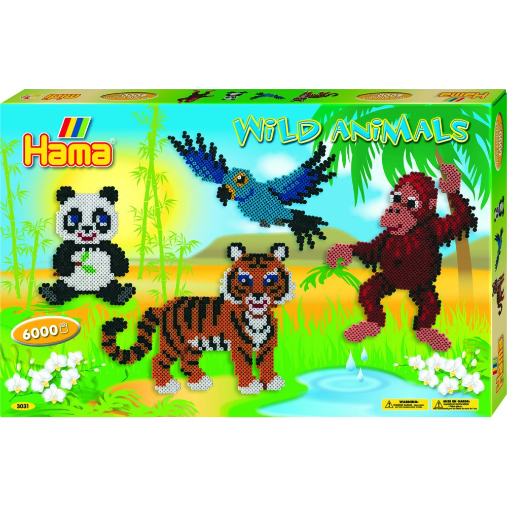 Bags for school frozen - Home Sets Hama Beads Set Wild Animals