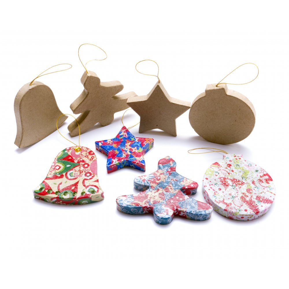 Paper mache decoration bell decopatch and paper mache for Paper mache christmas