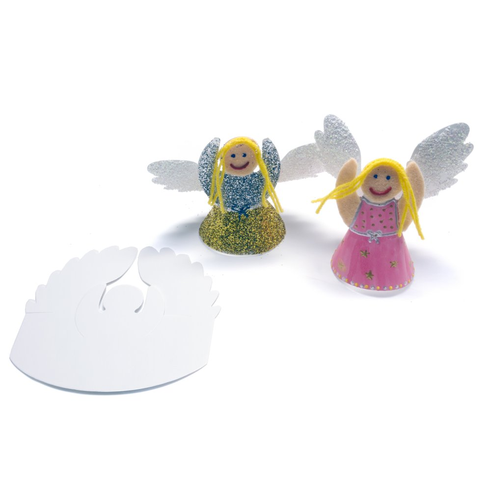 Design your own angel 25 pack christmas crafts from for Decorate your own christmas decorations
