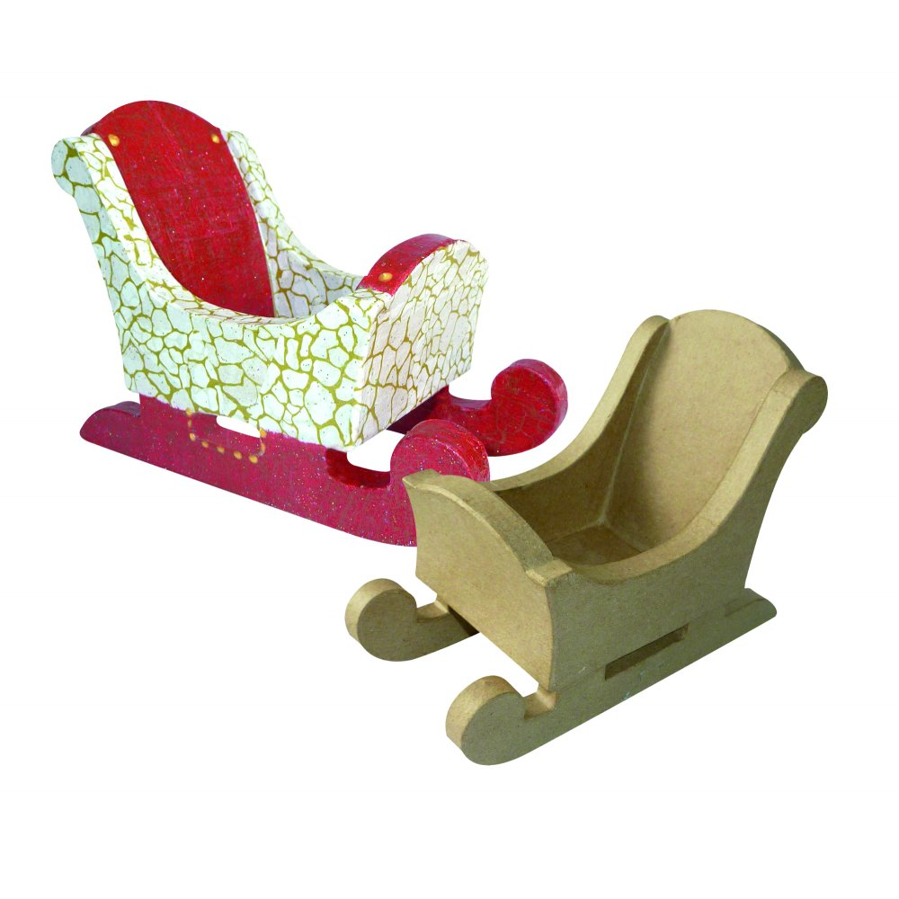 1000 x 1000 jpeg 94kB, Paper Mache Sleigh - Christmas Crafts from ...