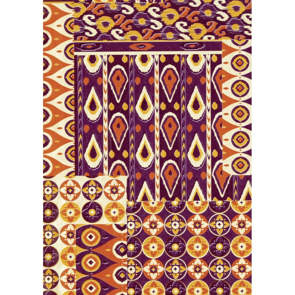 Decopatch Paper 517 Half Sheet Brown Patterned