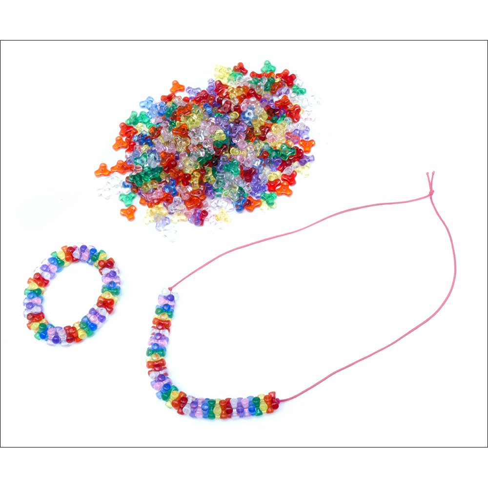 transparent coloured tri 380 buttons bells from crafty crocodiles uk