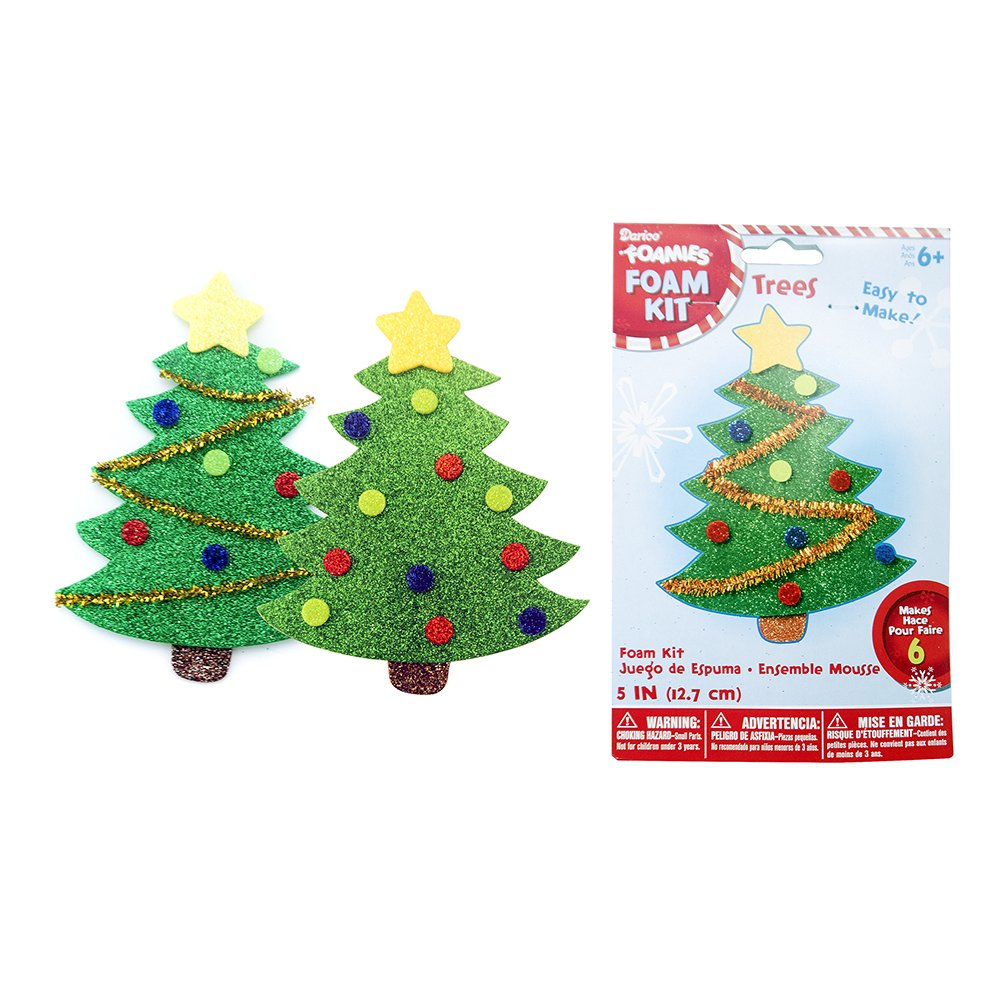 group foam tree kits 6 pack - Christmas Tree Decorating Ensemble Kits