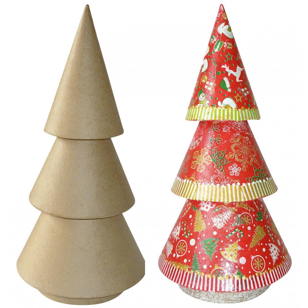 Tall Christmas Tree - N0002 - Decopatch And Paper Mache from ...