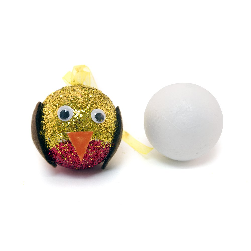 Pack Of 50 Polystyrene Baubles